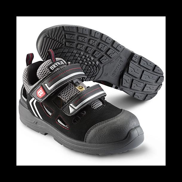 Brynje 330B  S1P / AMOTSPHERE sandal med dobbelt stærk velco luk