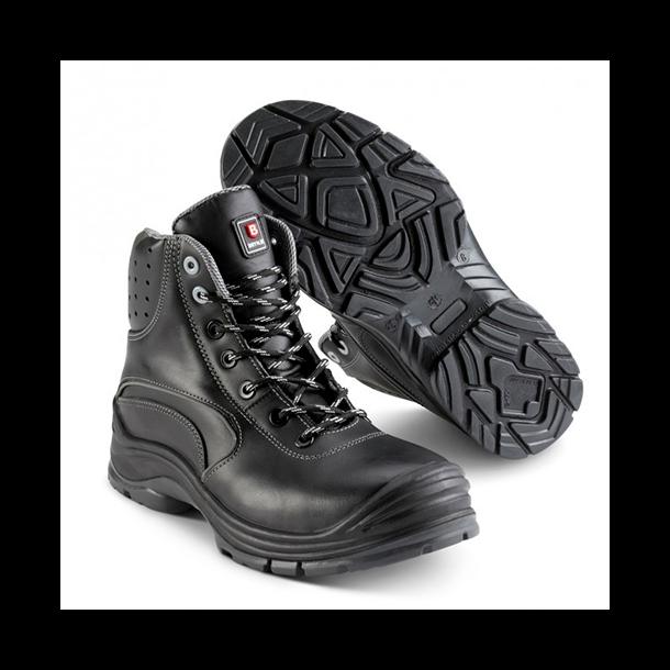 Brynje 202 / FORCE BOOT metalfri støvle kort skaft  og med refleksdetaljer og snørrebånd
